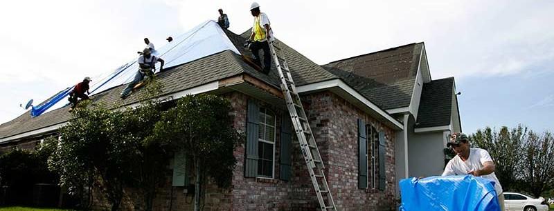 Proper installation of roof tarp