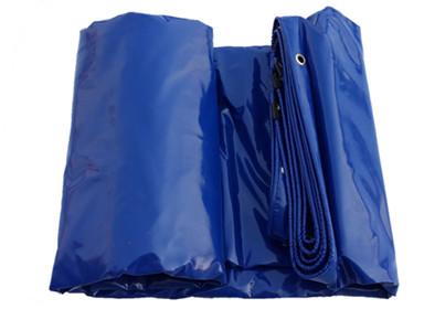 Image of a blue PVC Tarp
