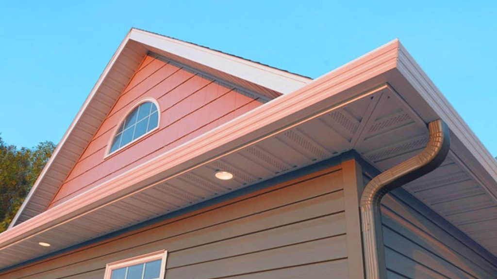 Image of eaves on a roof.