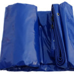 Image of a blue PVC Tarp